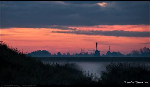 mill windmill sunrise molen zonsopkomst peterbijkerkeu