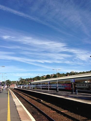 at Exeter St Davids Station