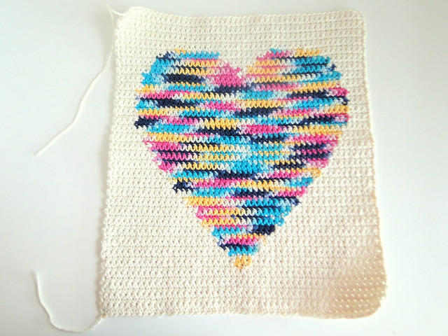plus 3 crochet: intarsia crochet heart