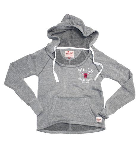 Gray Chicago Bulls Brooklyn Sweatshirt By Sportiqe Apparel
