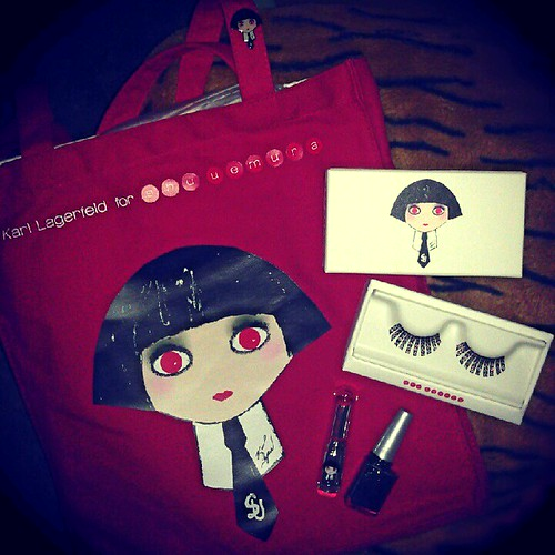My very own Karl Lagerfeld x Shu Uemura collection