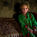 Wakhi nomad girl with blonde hair, Big pamir, Wakhan, Afghanistan by Eric Lafforgue