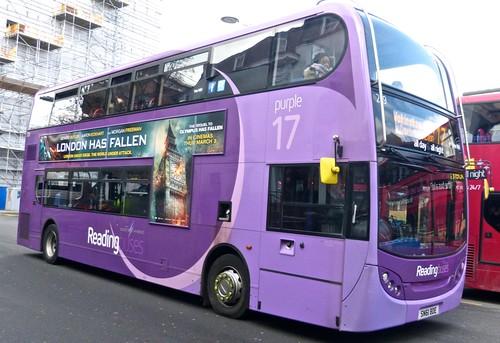 SN61 BDE 'Reading Buses' 229 Alexander Dennis Ltd Enviro 400H on 'Dennis Basfords' railsroadsrunways.blogspot.co.uk