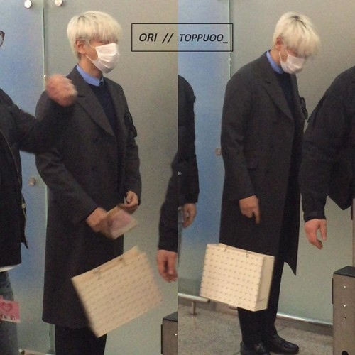 G-Dragon & TOP - Incheon Airport - 30jan2015 - TOP - Toppuoo_ - 01