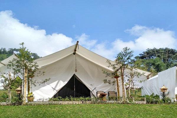 glamping tent maribaya