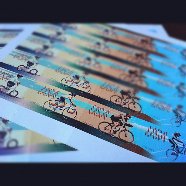 Bicycling Forever Stamps