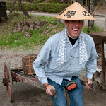 Silly Tourist Photo of Dan at Hida Folk Village - Takayama, Japan