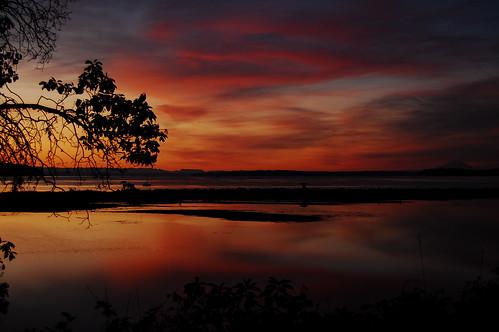 sunset pugetsound oakbay washington cloudsstormssunsetssunrises