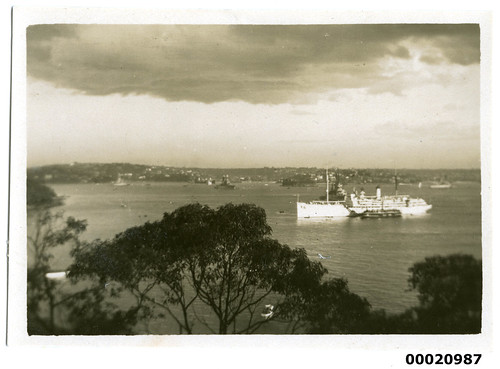 Hospital ship USS RELIEF in Sydney Harbour, July 1925