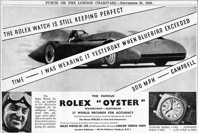 1935 Rolex ad ft. Blue Bird