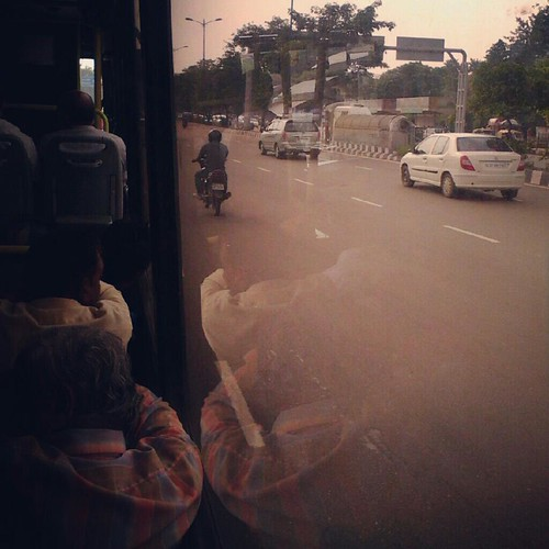 outside view from inside a bus by ravi1030