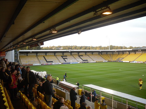North Stand, Almondvale Stadium, from Main Stand