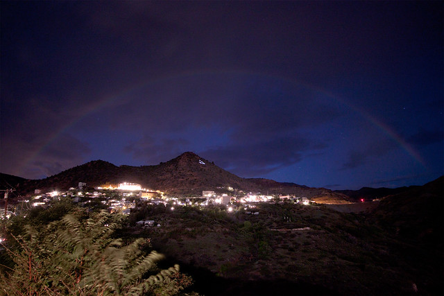 Moonbow Over Jerome at Night 2