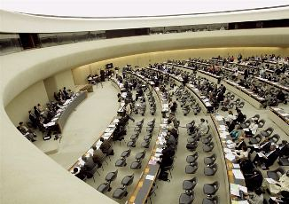 United Nations Human Rights Council in Geneva, Switzerland. The international body holds meeting here and in New York City. by Pan-African News Wire File Photos