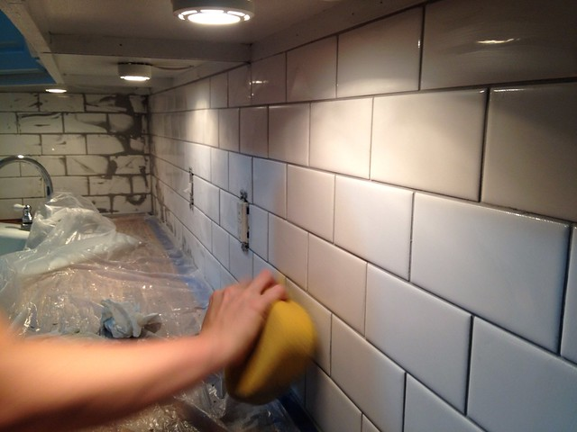 Waiting it Out for Our Warm Gray Grout - Old Town Home