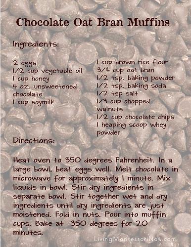 Gluten-Free Chocolate Oat Bran Muffins