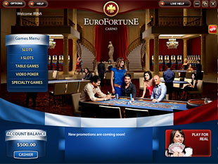 Euro Fortune Casino Lobby