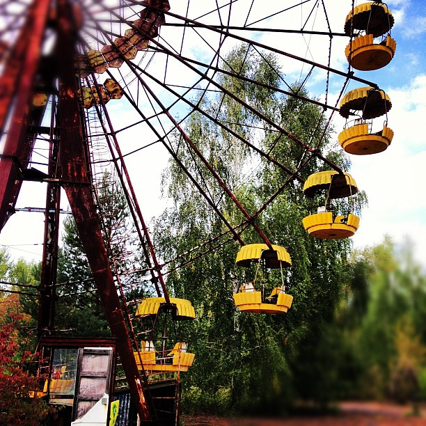 The famous Pripyat Ferris wheel #chernobyl
