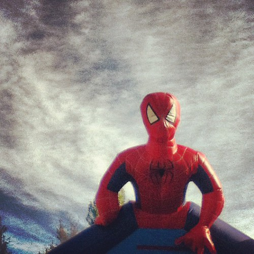 Let the #bounce begin!! woot #birthday #instamuse #shuttersisters #spiderman