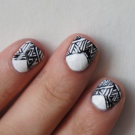 B&W Aztec Stamping
