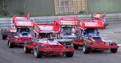 truck(0.0), dirt track racing(0.0), auto racing(1.0), automobile(1.0), racing(1.0), vehicle(1.0), stock car racing(1.0), sprint car racing(1.0), race track(1.0), land vehicle(1.0),