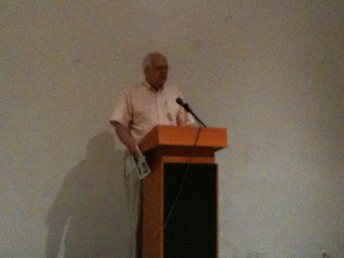 Tom Wirth, at Charles Rice-González's reading