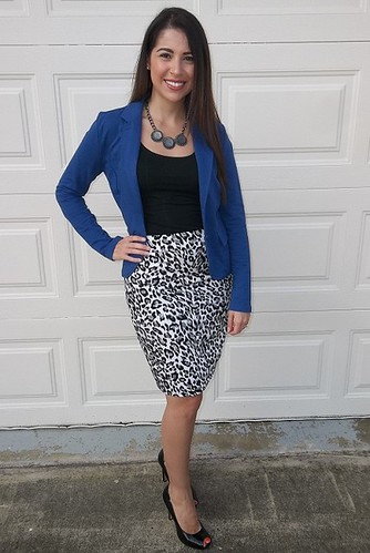 Animal Print Pencil Skirt pear shape