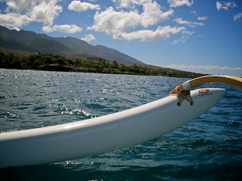 Canoeing with Maui Paddle
