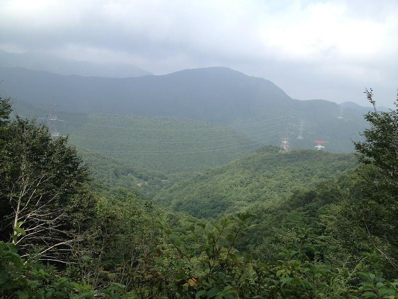 笹谷峠付近からの景色