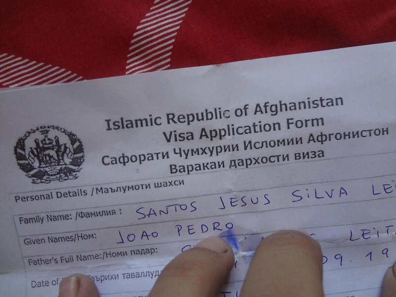 Visto para o Afeganistão