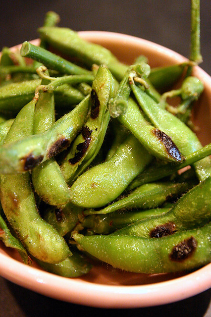 Grilled Edamame flavoured with Truffle