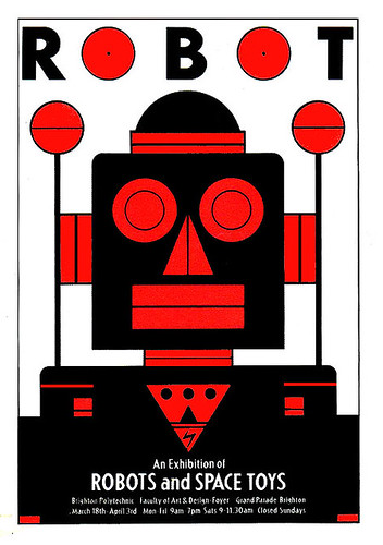 Robots and Space toys exhibition poster