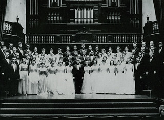 The men's and women's glee club were combined in 1951 into one ensemble - photo from 1954 Metate