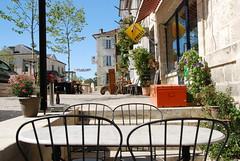 Table d'une terrasse