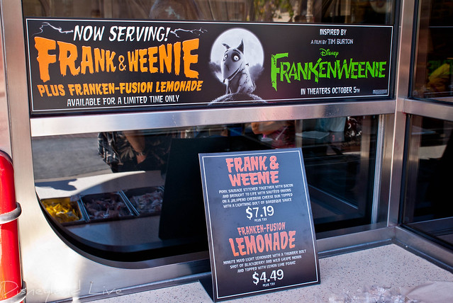 Frankenweenie Food at Award Wieners - Disney California Adventure