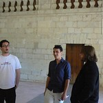 Plantagenet World 2011 Testing the acoustics, Fontevraud Abbey --