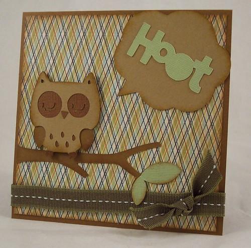 Cricut Owl Card