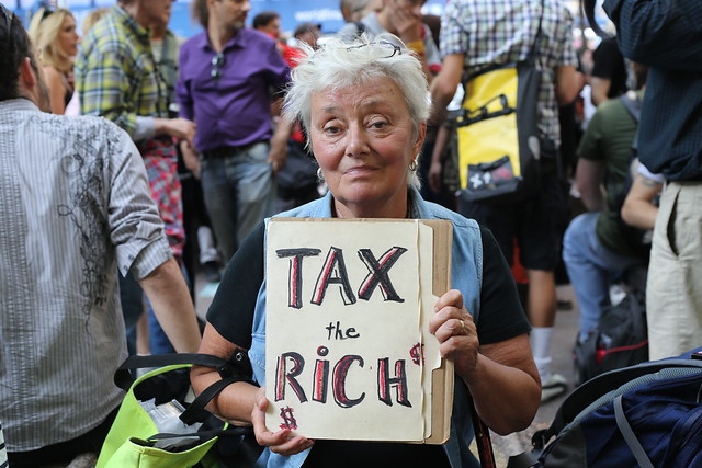 Tax the rich at Occupy Wall Street