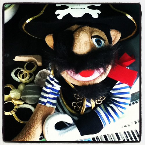 Captain Billy Bones waiting for International Talk Like A Pirate Day. 19th September.