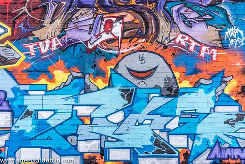 Street Art In Tivoli Car Park (Francis Street In Dublin) by infomatique
