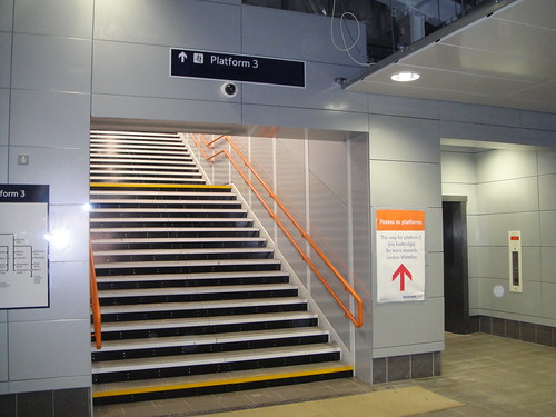 The new stairs at Earlsfield Station