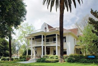Seaver House, home of Pomona's Office of Alumni Relations, was moved to campus in 1979