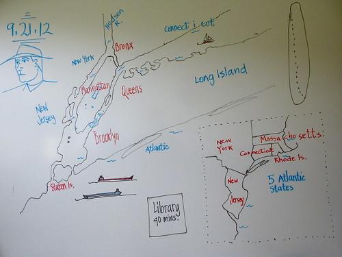 N Y C / geography Magnet by trudeau