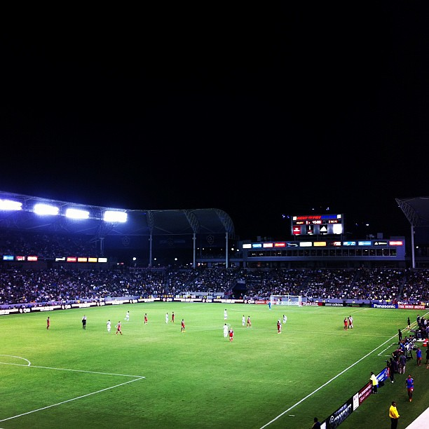 My view of tonight's @LAGalaxy game. #soccer