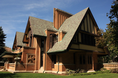 Nathan G. Moore House by Frank Lloyd Wright