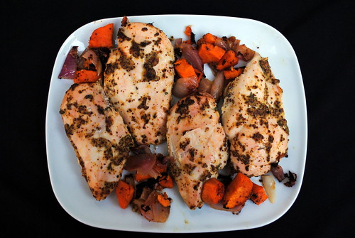 Dijon Roast Chicken & Sweet Potatoes