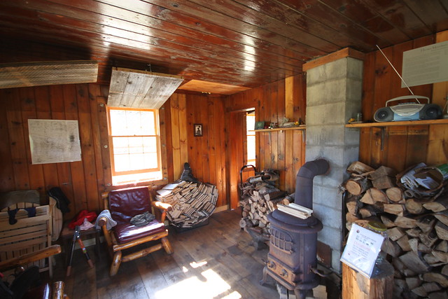 Inside the Hunter Mountain observer's cabin