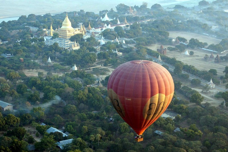 Another View of Ancient Bagan from the air