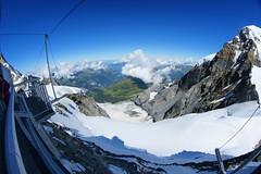 Sphinx Observatory on Jungfraujoch, Guggigletscher and Lauterbrunnen valley
