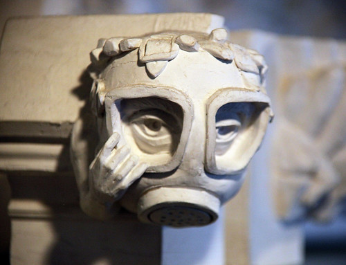 gas mask gargoyle - Washington National Cathedral - 2012-09-13